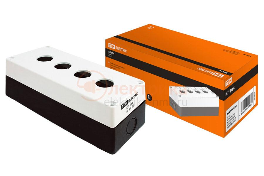корпус КП104 для кнопок 4м. бел.