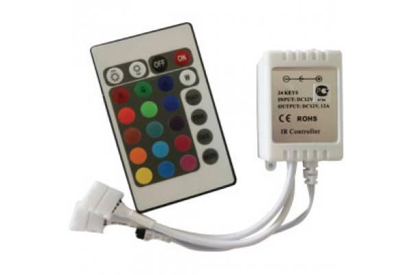 контроллер RGB 144W 12V 12A с инфракрасным пультом