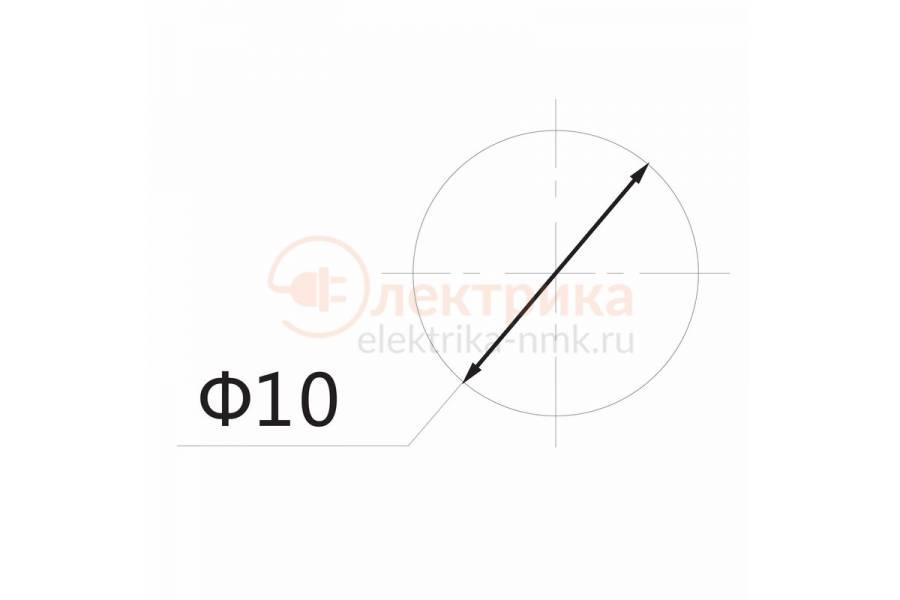 индикатор 220V d=10.2 граненый красный