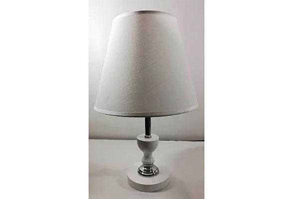 лампа наст.8604 белый/белый абажур