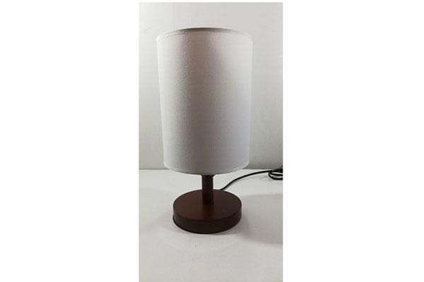 лампа наст.2035 черный/белый абажур