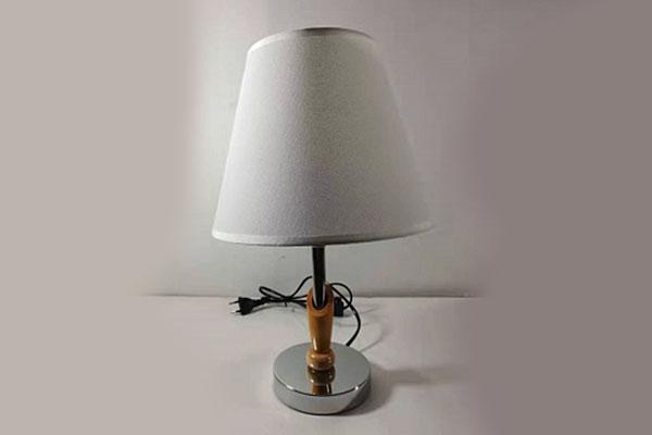 лампа наст.8055 серебро/белый абажур