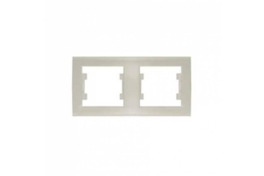 Рамка 2-м Бриллиант горизонт. сл. кость UNIVersal 7948684