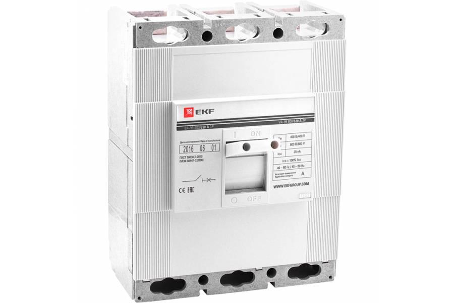 Выключатель авт. 3п ВА-99 800/800А EKF mccb99-800-800