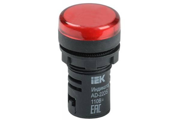 Арматура светосигнальная AD-22DS 24В AC/DC красн. IEK BLS10-ADDS-024-K04