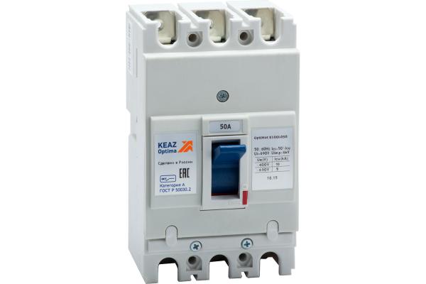 Выключатель автоматический 50А 10кА OptiMat E100L050 УХЛ3 КЭАЗ 100005