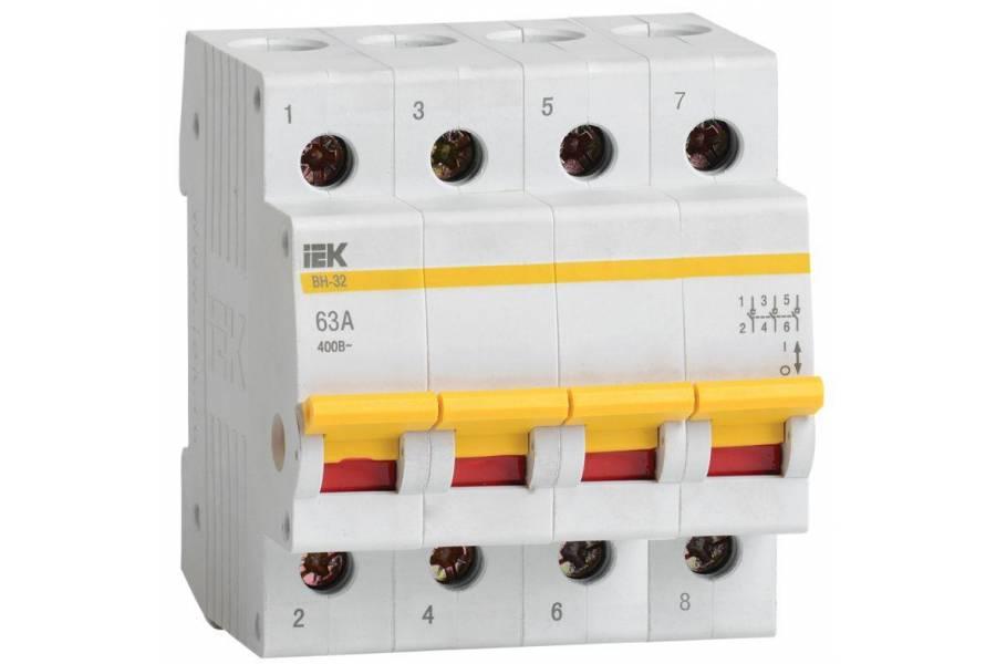 Выключатель нагрузки ВН-32 63А/4П IEK MNV10-4-063