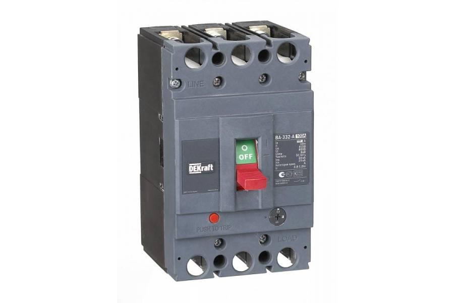 Выключатель автоматический 3п 100А диапазон уставок 80...100А 50кА ВА-332 SchE 21134DEK