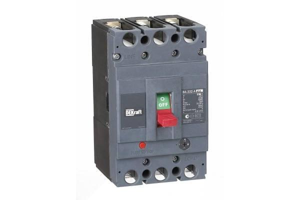 Выключатель автоматический 3п 40А диапазон уставок 32...40А 50кА ВА-332 SchE 21132DEK