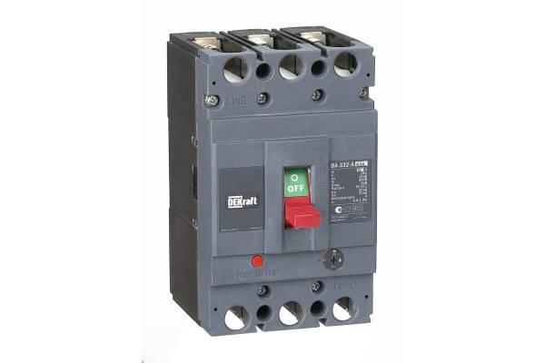 Выключатель автоматический 3п 63А диапазон уставок 50.4...63А 50кА ВА-332 SchE 21133DEK