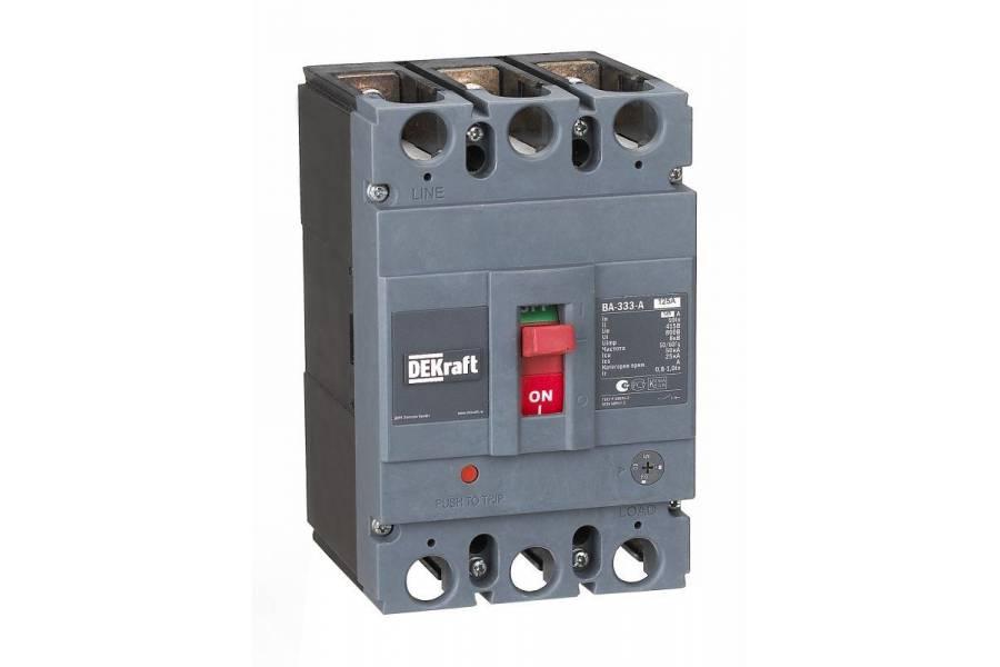 Выключатель автоматический 3п 125А диапазон уставок 100А...125А 50кА ВА-333 SchE 21135DEK