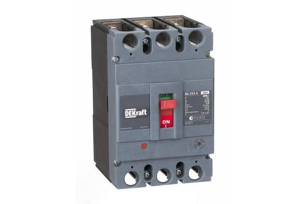 Выключатель автоматический 3п 160А диапазон уставок 128...160А 50кА ВА-333 SchE 21136DEK