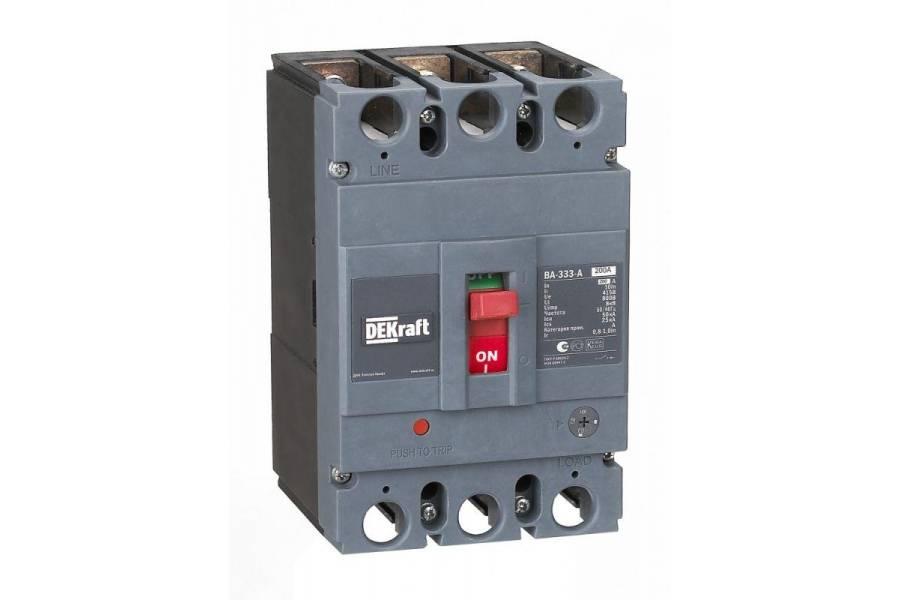 Выключатель автоматический 3п 200А диапазон уставок 160...200А 50кА ВА-333 SchE 21137DEK