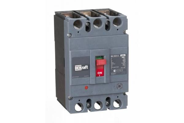 Выключатель автоматический 3п 250А диапазон уставок 200...250А 50кА ВА-333 SchE 21138DEK