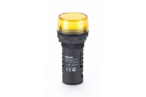Лампа коммутац. ADDS 22мм LED 220В AC/DC ЛK-22 жел. SchE 25120DEK