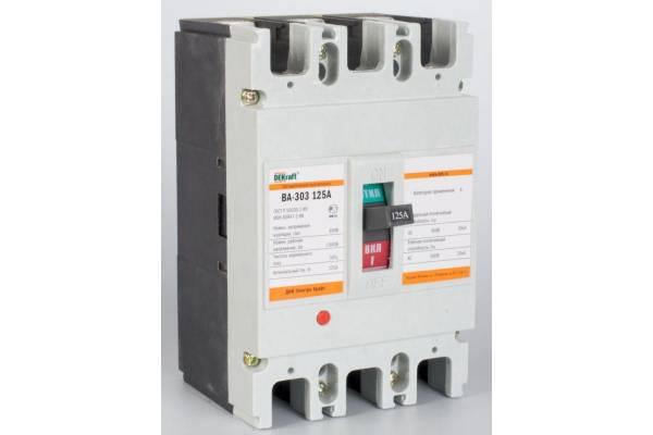 Выключатель автоматический 3п 125А 30кА ВА-303 SchE 21009DEK