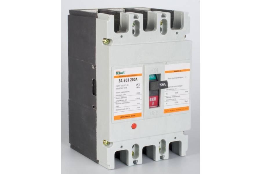 Выключатель автоматический 3п 200А 40кА ВА-303 SchE 21011DEK