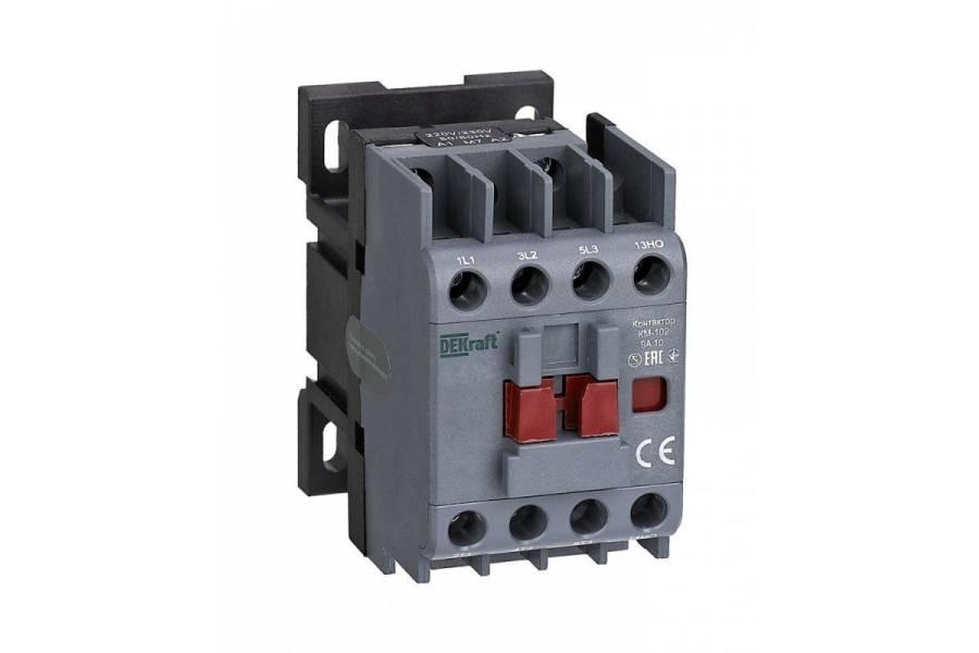 Контактор КМ-102 3п/9А 1НО 230В AC SchE 22001DEK