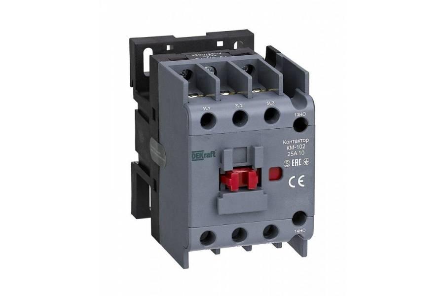 Контактор КМ-102 3п/25А 1НО 230В AC SchE 22004DEK