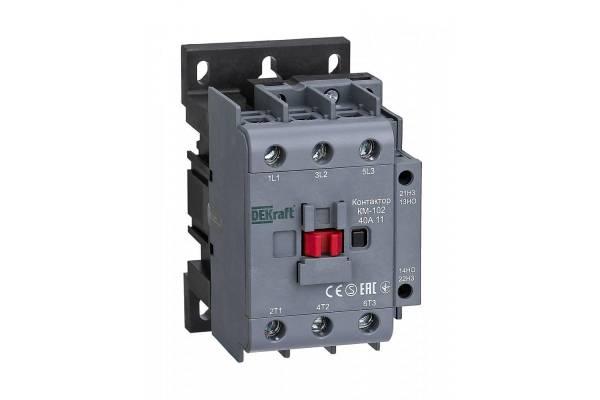 Контактор КМ-102 3п/40А 1НО+1НЗ 230В AC SchE 22006DEK