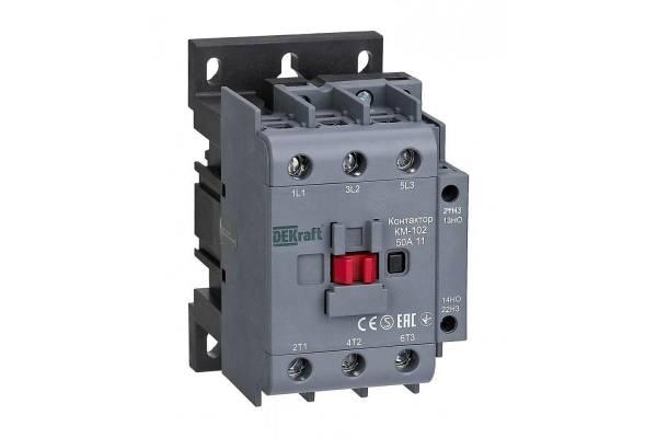 Контактор КМ-102 3п/50А 1НО+1НЗ 230В AC SchE 22007DEK