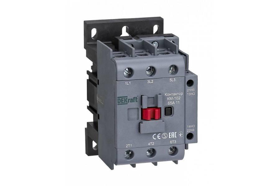 Контактор КМ-102 3п/65А 1НО+1НЗ 230В AC SchE 22008DEK