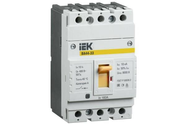 Выключатель автоматический 3п 50А 15кА ВА44 33 ИЭК SVA4410-3-0050