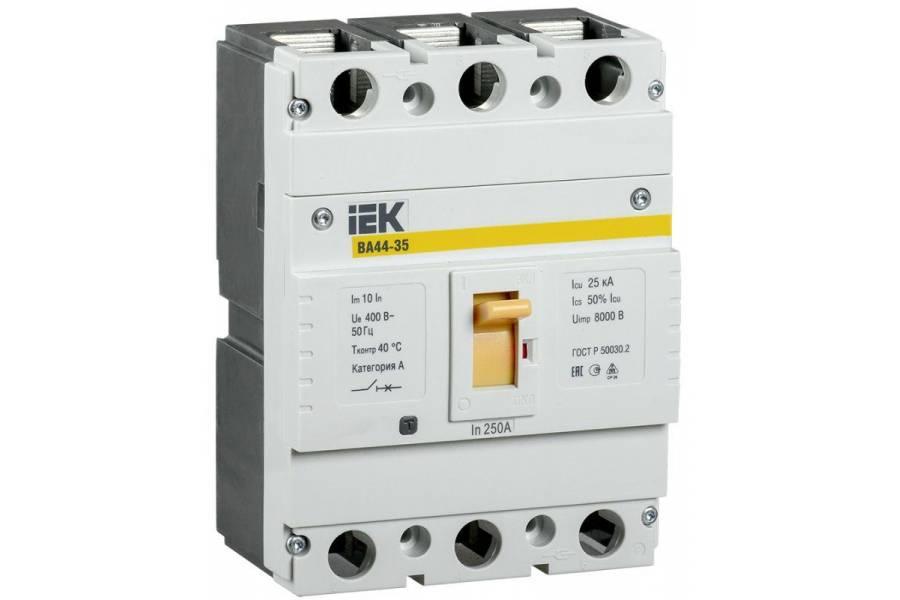 Выключатель автоматический 3п 250А 25кА ВА44 35 IEK SVA4410-3-0250