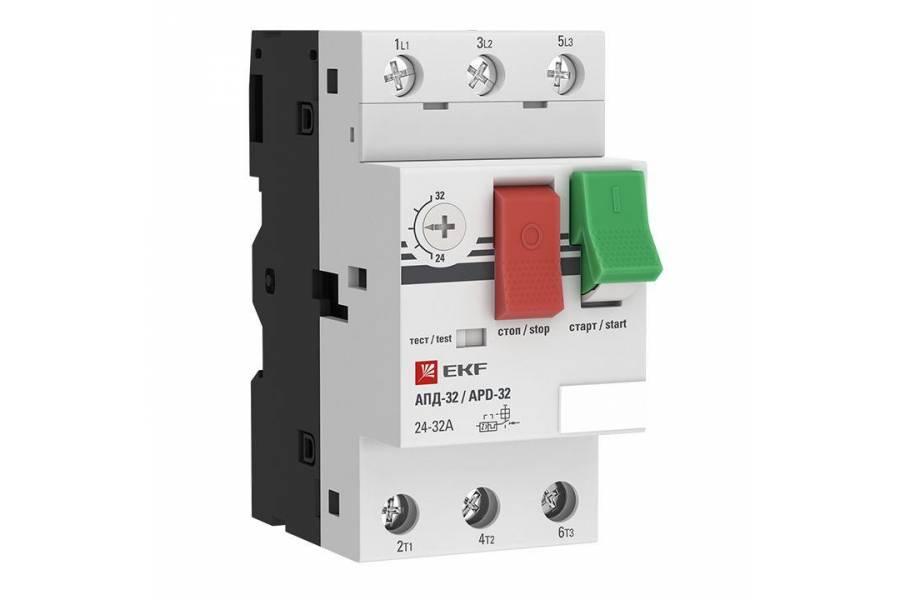 Выключатель авт. защиты двиг. АПД-32 4-6.3А EKF apd2-4.0-6.3