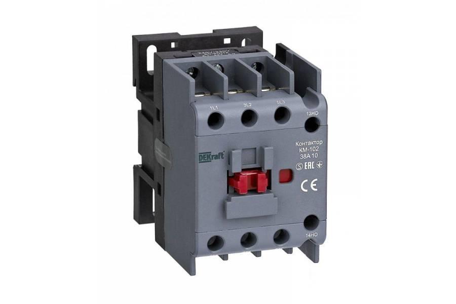 Контактор КМ-102 38А 220В/230В AC3 AC4 1НО SchE 22313DEK
