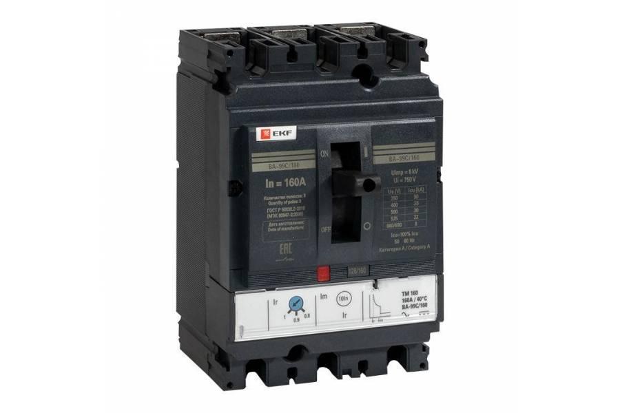 Выключатель автоматический 3п 160/160А 36кА ВА-99C Compact NS PROxima EKF mccb99C-160-160
