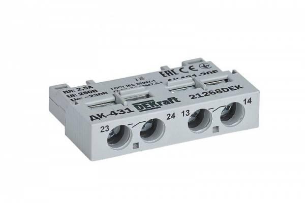 Контакт дополнительный фронтальный 2НО для ВА-431 SchE 21268DEK