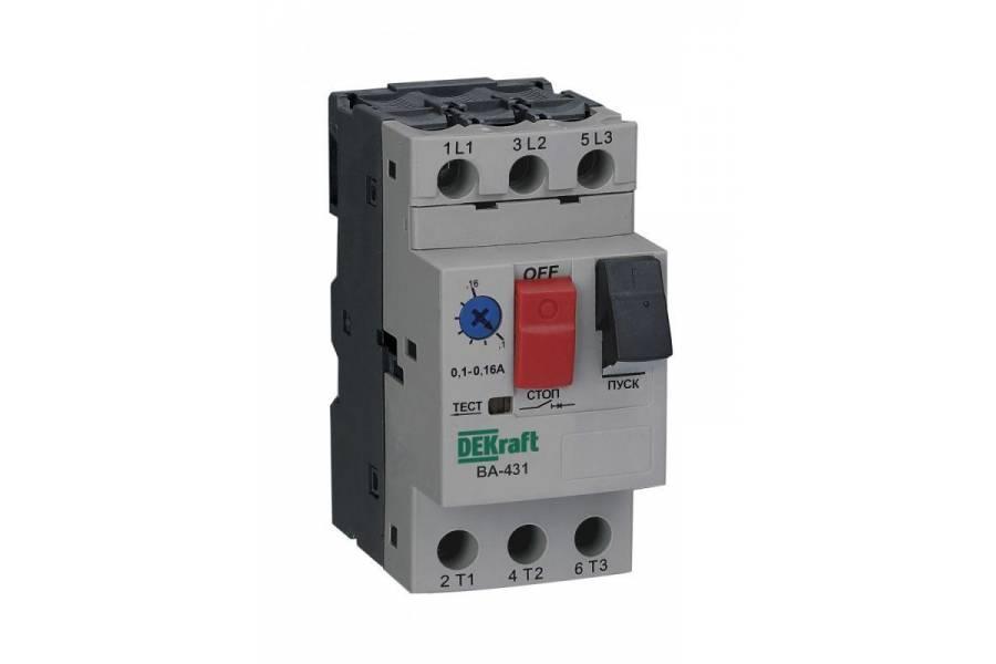Выключатель авт. защиты двиг. 3P 0.63-1.0А 100кА ВА-431 SchE 21224DEK