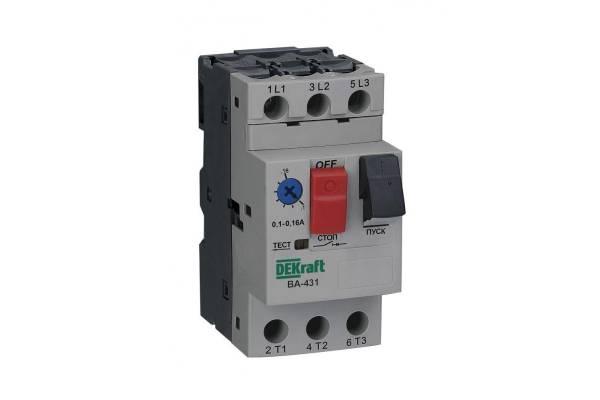 Выключатель авт. защиты двиг. 3P 1.0-1.6А 100кА ВА-431 SchE 21225DEK
