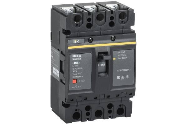 Выключатель автоматический 3п 100А 35кА ВА88-35 MASTER IEK SVA30-3-0100-02