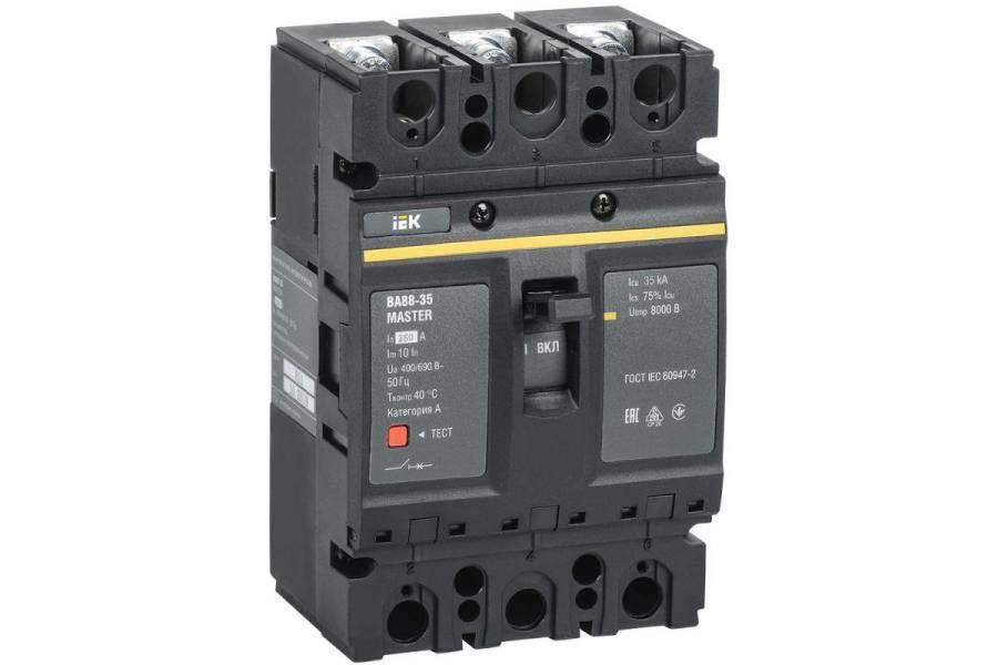 Выключатель автоматический 3п 250А 35кА ВА88-35 MASTER IEK SVA30-3-0250-02