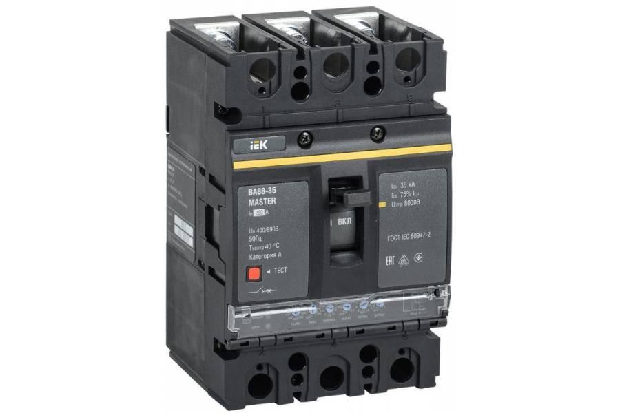 Выключатель автоматический 3п 250А 35кА ВА88-35 MASTER электр. расцеп. IEK SVA31-3-0250-02