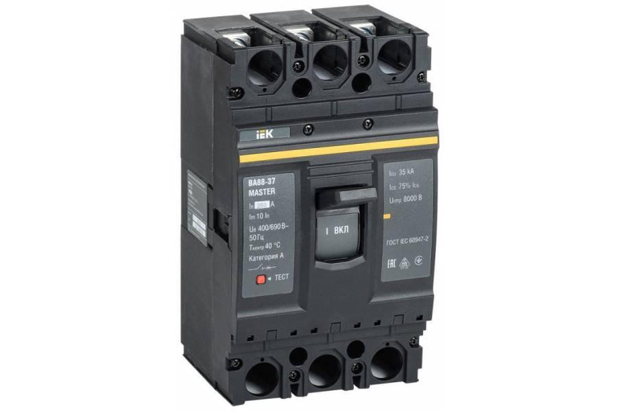 Выключатель автоматический 3п 250А 35кА ВА88-37 MASTER IEK SVA40-3-0250-02