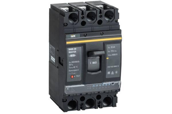 Выключатель автоматический 3п 400А 35кА ВА88-39 MASTER электр. расцеп. IEK SVA71-3-0400-02