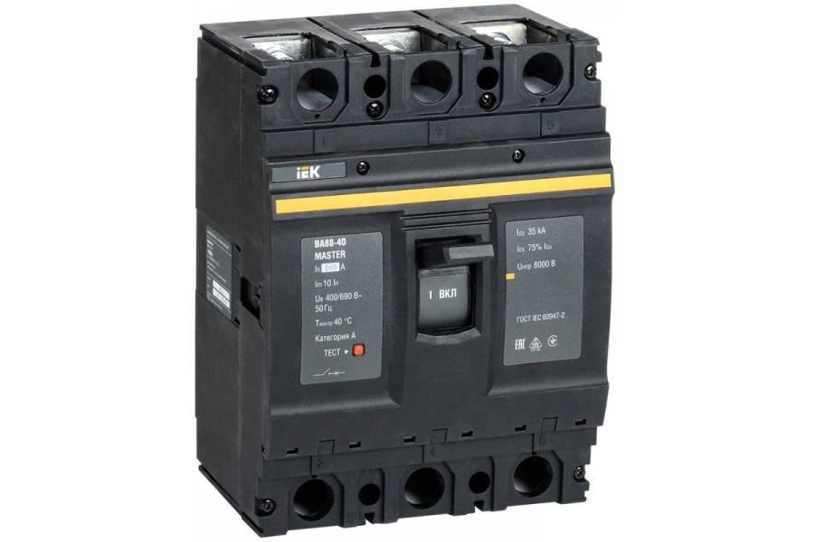 Выключатель автоматический 3п 500А 35кА ВА88-40 MASTER IEK SVA50-3-0500-02