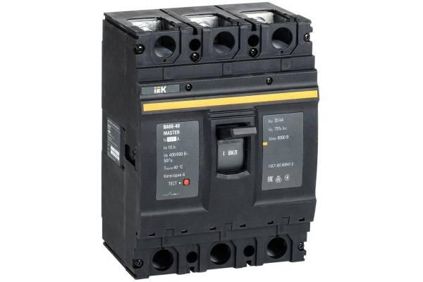 Выключатель автоматический 3п 630А 35кА ВА88-40 MASTER IEK SVA50-3-0630-02