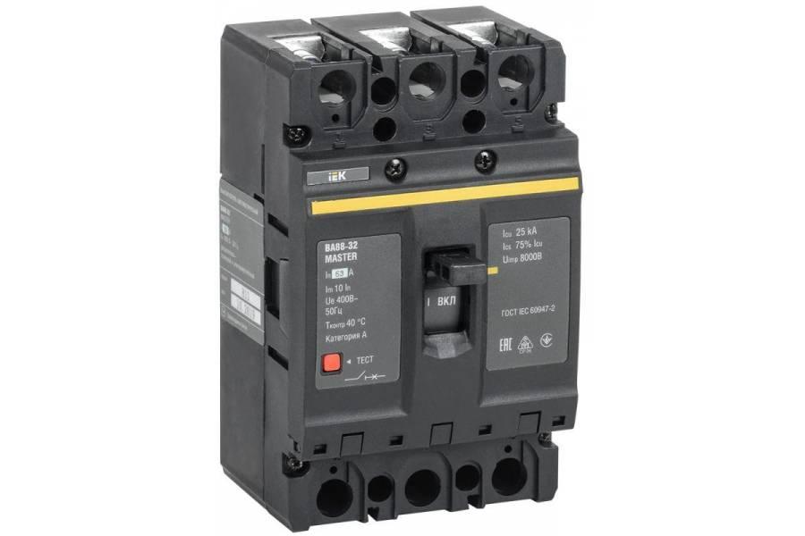 Выключатель автоматический 3п 63А 25кА ВА88-32 MASTER IEK SVA10-3-0063-02