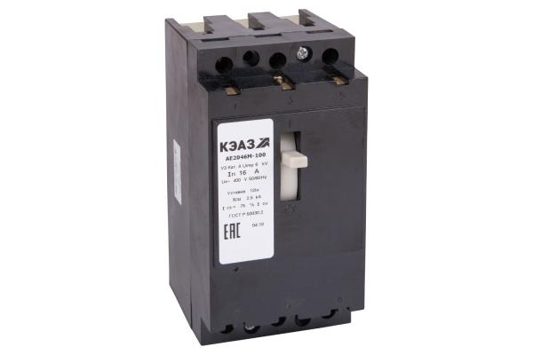 Выключатель автоматический 31.5А 12Iн АЕ2046М-100 У3 400В AC КЭАЗ 104623