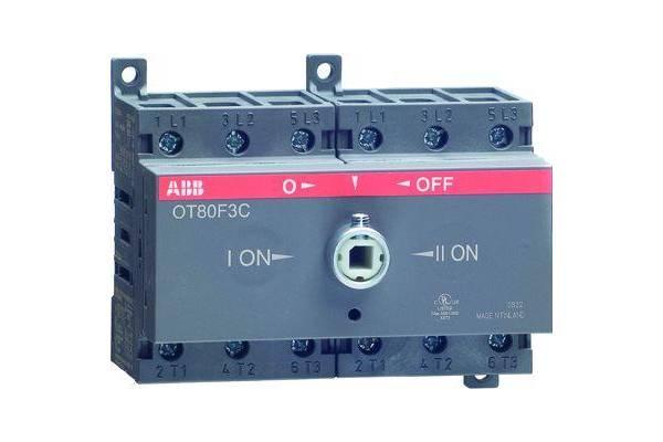 Рубильник реверсивный OT80F3C 80А (75А AC23) ABB 1SCA105402R1001