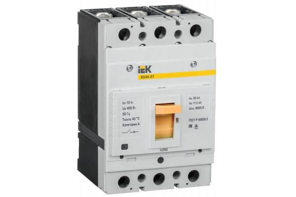 Выключатель автоматический 3п 250А 35кА ВА44-37 IEK SVA4410-3-0250-35
