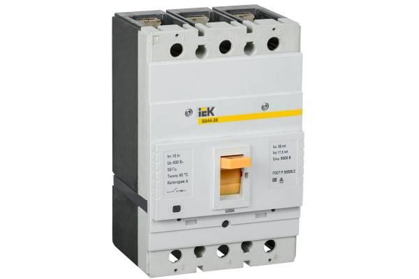 Выключатель автоматический 3п 500А 35кА ВА44-39 IEK SVT50-3-0500-35