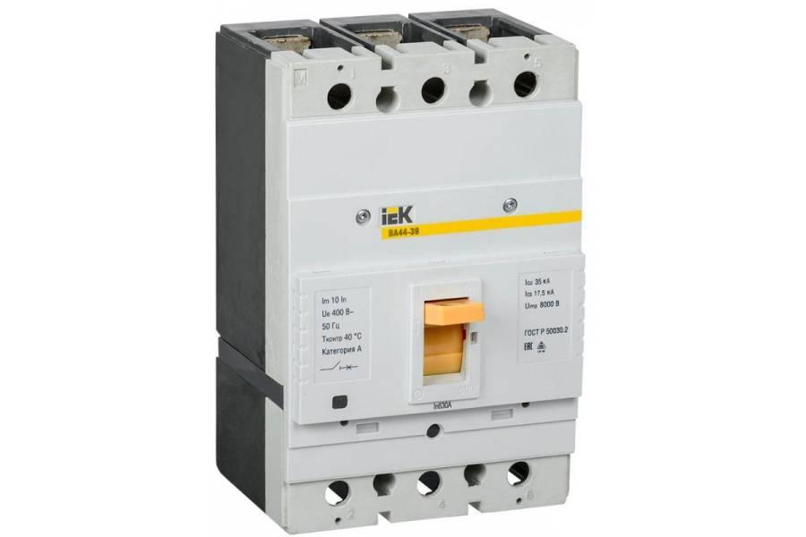 Выключатель автоматический 3п 630А 35кА ВА44-39 IEK SVT50-3-0630-35