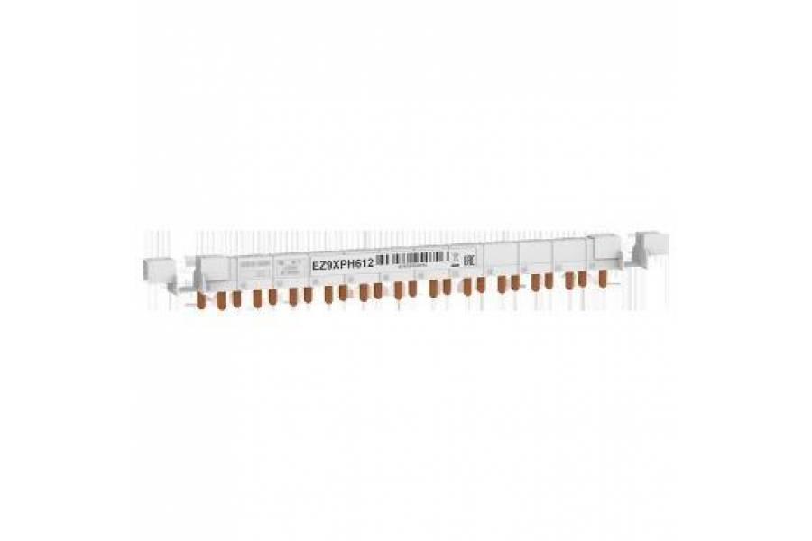 Шинка гребенчатая 1П+Н (NL1) 12мод. шаг 9мм 63А разрезаемая SchE EZ9XPH612