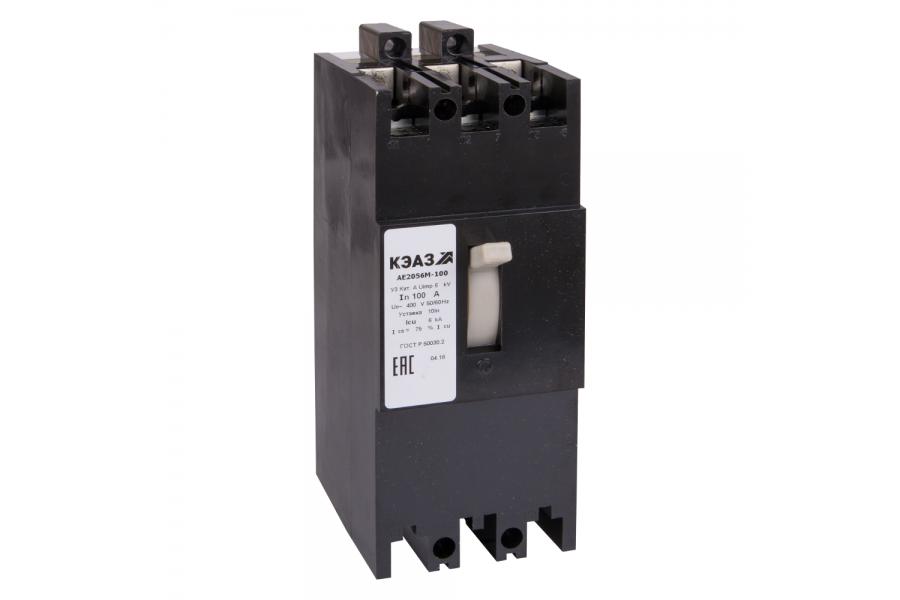 Выключатель автоматический 100А 10Iн АЕ2056М-100 У3 400В AC КЭАЗ 104465