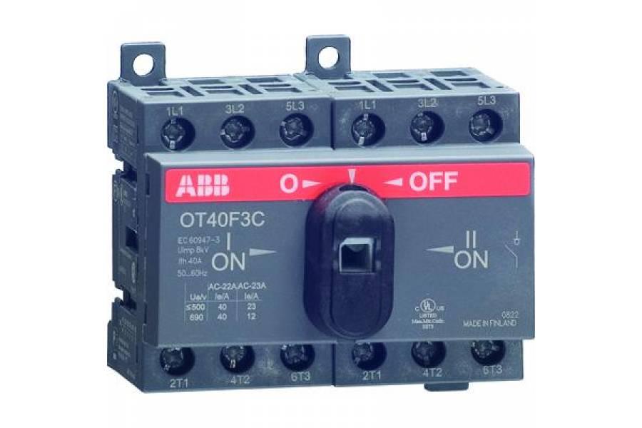 Рубильник реверсивный OT25F3C 25А (20А AC23) ABB 1SCA104863R1001